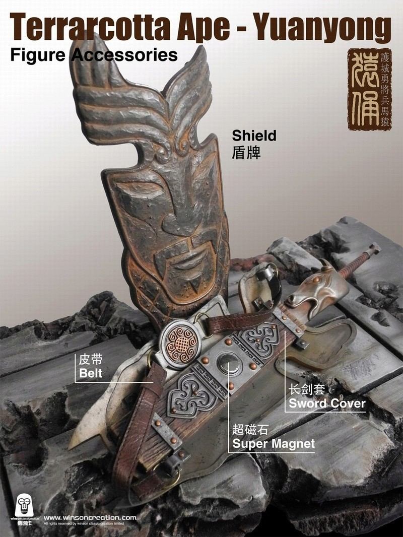 NEW PRODUCT: 猿 猿 新品 :: 1/6 Guardian of the City - Terracotta Warriors and Horses 猿俑 Action Figures 16212010