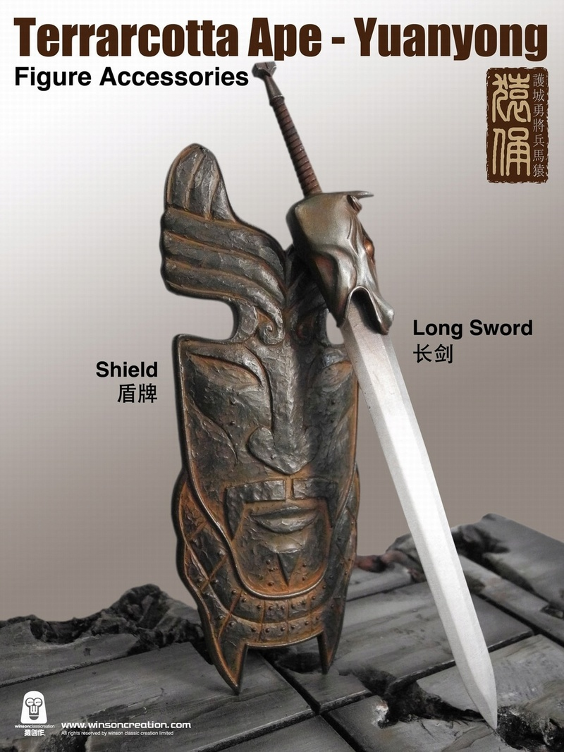 NEW PRODUCT: 猿 猿 新品 :: 1/6 Guardian of the City - Terracotta Warriors and Horses 猿俑 Action Figures 16212110
