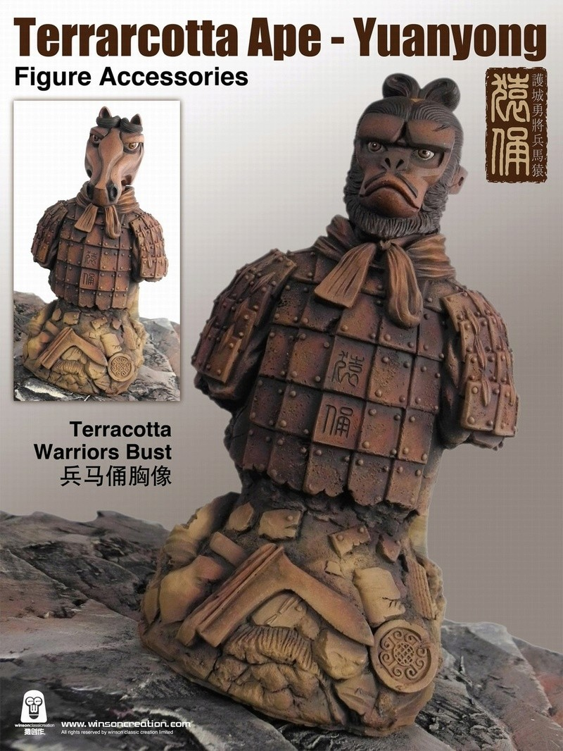 NEW PRODUCT: 猿 猿 新品 :: 1/6 Guardian of the City - Terracotta Warriors and Horses 猿俑 Action Figures 16212211
