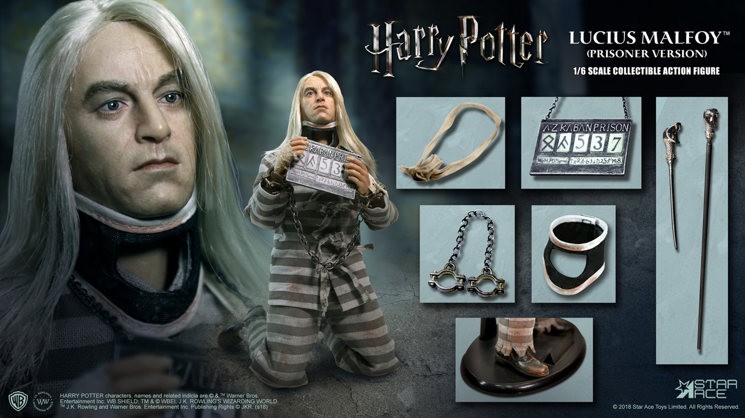 NEW PRODUCT: Star Ace Toys New: 1/6 Harry Potter and the Half-Blood Prince - Lucius Prisoner Edition (SA0040) 16512711