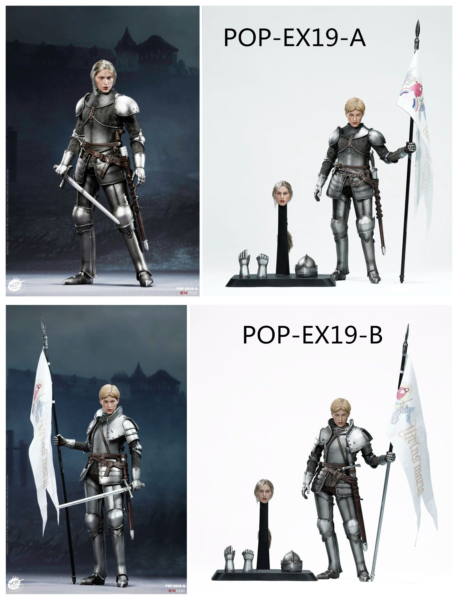 knight - NEW PRODUCT: POPTOYS New Products: 1/6 St. Knights - Assault Edition & Triumph Edition & Iron Armor (POP-EX19 ABC) 16565410