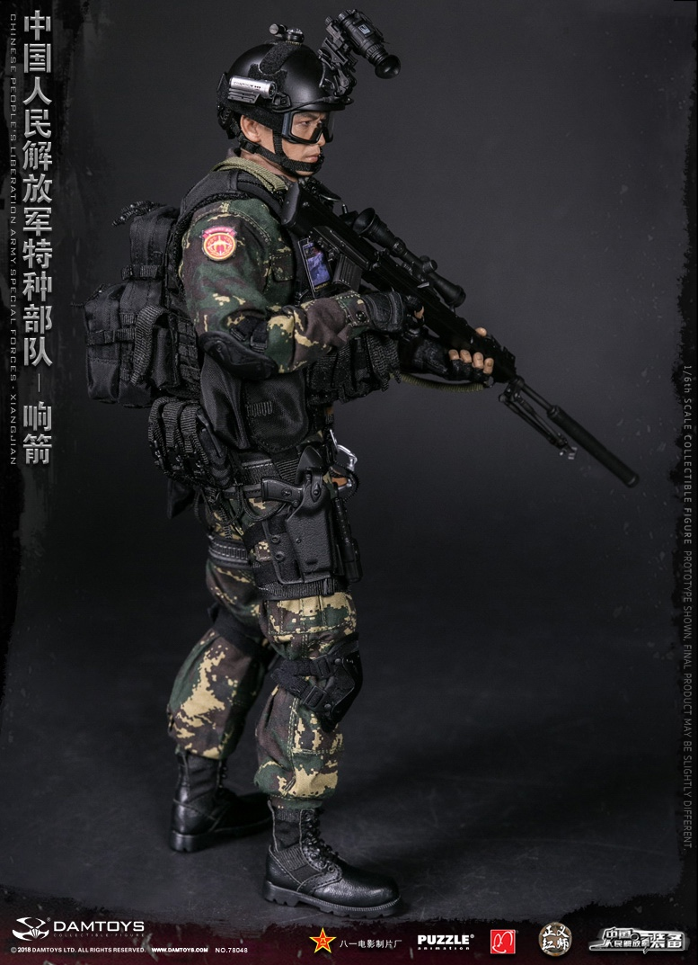 "Army - NEW PRODUCT: DAMTOYS New Products: 1/6 Special Forces of the People's Liberation Army of China - ""Singing Arrows"" Moving Figures (78048#) 17061510"