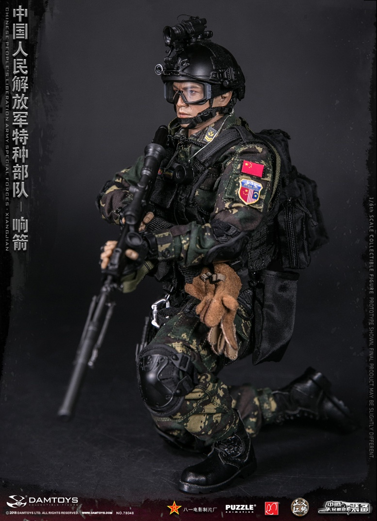 "Army - NEW PRODUCT: DAMTOYS New Products: 1/6 Special Forces of the People's Liberation Army of China - ""Singing Arrows"" Moving Figures (78048#) 17061710"