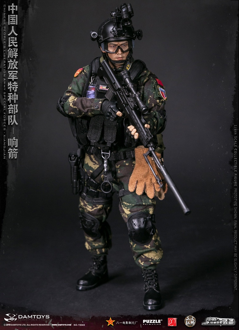 "Army - NEW PRODUCT: DAMTOYS New Products: 1/6 Special Forces of the People's Liberation Army of China - ""Singing Arrows"" Moving Figures (78048#) 17062110"