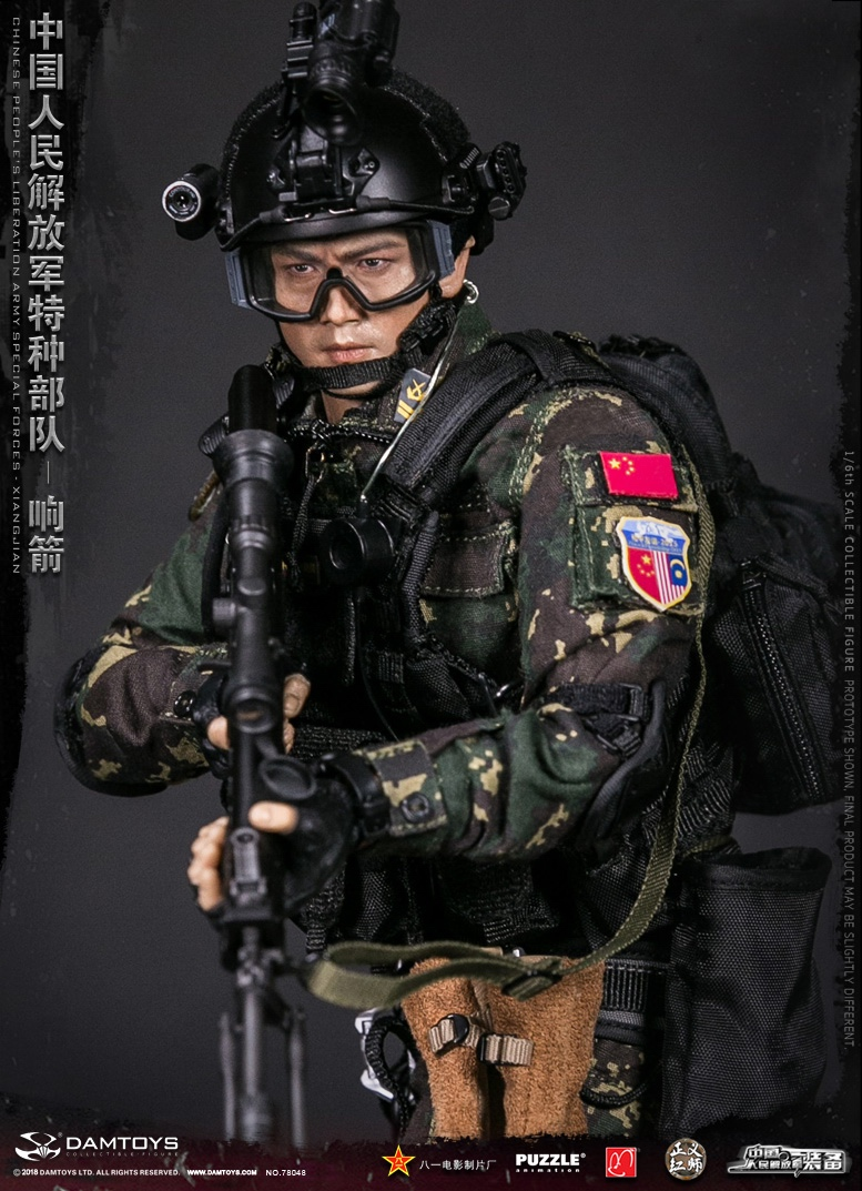 "Army - NEW PRODUCT: DAMTOYS New Products: 1/6 Special Forces of the People's Liberation Army of China - ""Singing Arrows"" Moving Figures (78048#) 17062211"