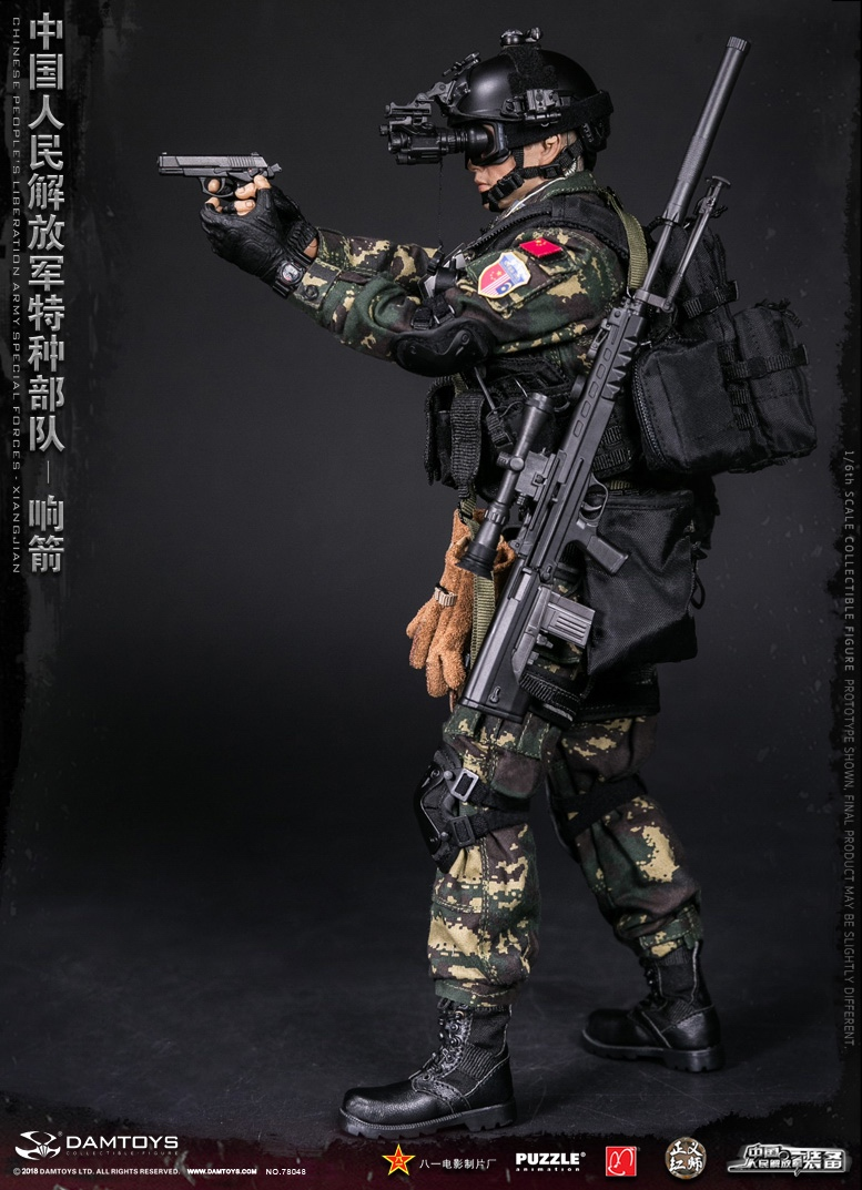 "Army - NEW PRODUCT: DAMTOYS New Products: 1/6 Special Forces of the People's Liberation Army of China - ""Singing Arrows"" Moving Figures (78048#) 17093710"