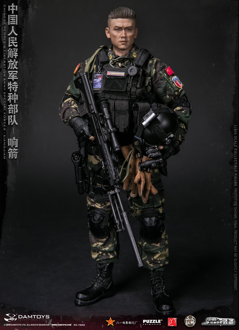 "Army - NEW PRODUCT: DAMTOYS New Products: 1/6 Special Forces of the People's Liberation Army of China - ""Singing Arrows"" Moving Figures (78048#) 17094310"