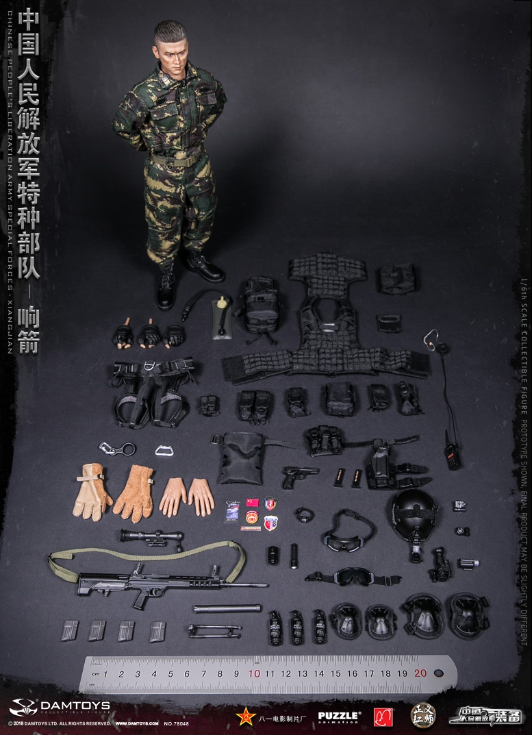 "Army - NEW PRODUCT: DAMTOYS New Products: 1/6 Special Forces of the People's Liberation Army of China - ""Singing Arrows"" Moving Figures (78048#) 17095810"