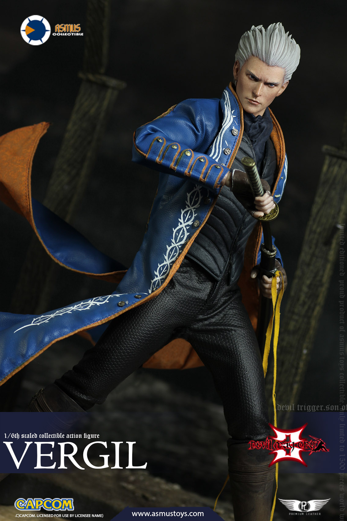 "NEW PRODUCT: Asmus Toys New: 1/6 ""Cry of Devil 3"" series - Vergil Moving figure 17265110"