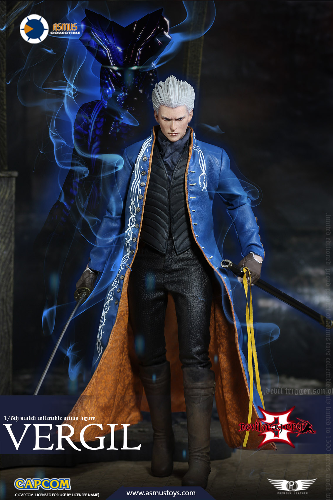 "NEW PRODUCT: Asmus Toys New: 1/6 ""Cry of Devil 3"" series - Vergil Moving figure 17265311"