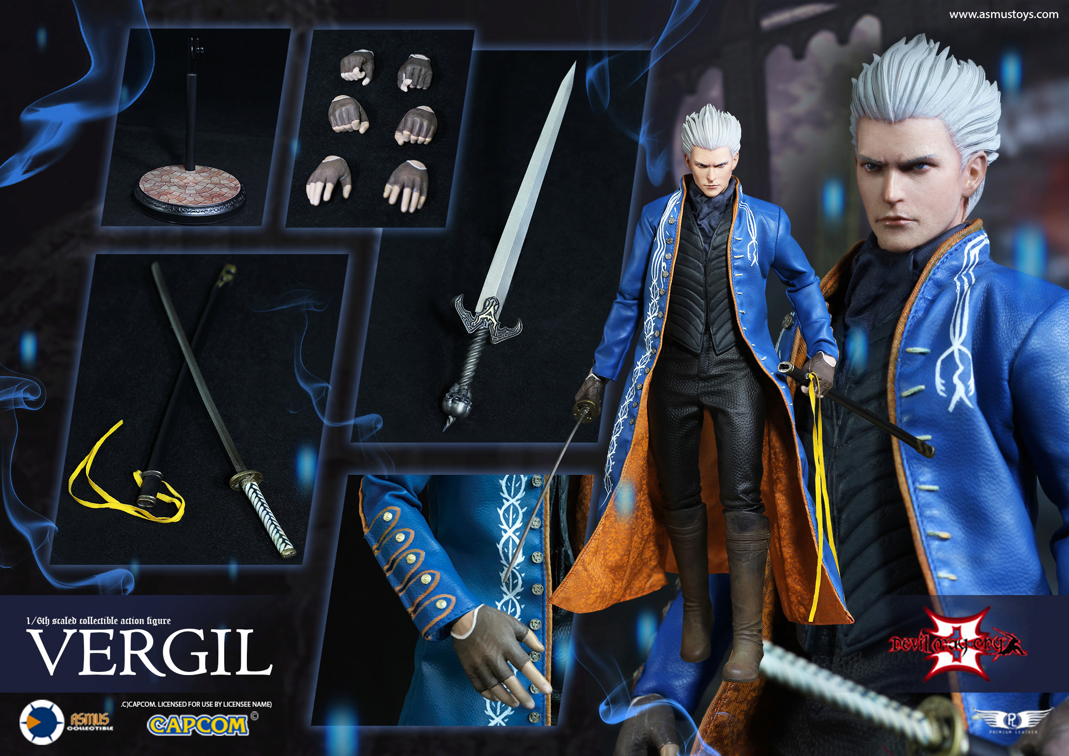 "NEW PRODUCT: Asmus Toys New: 1/6 ""Cry of Devil 3"" series - Vergil Moving figure 17265810"