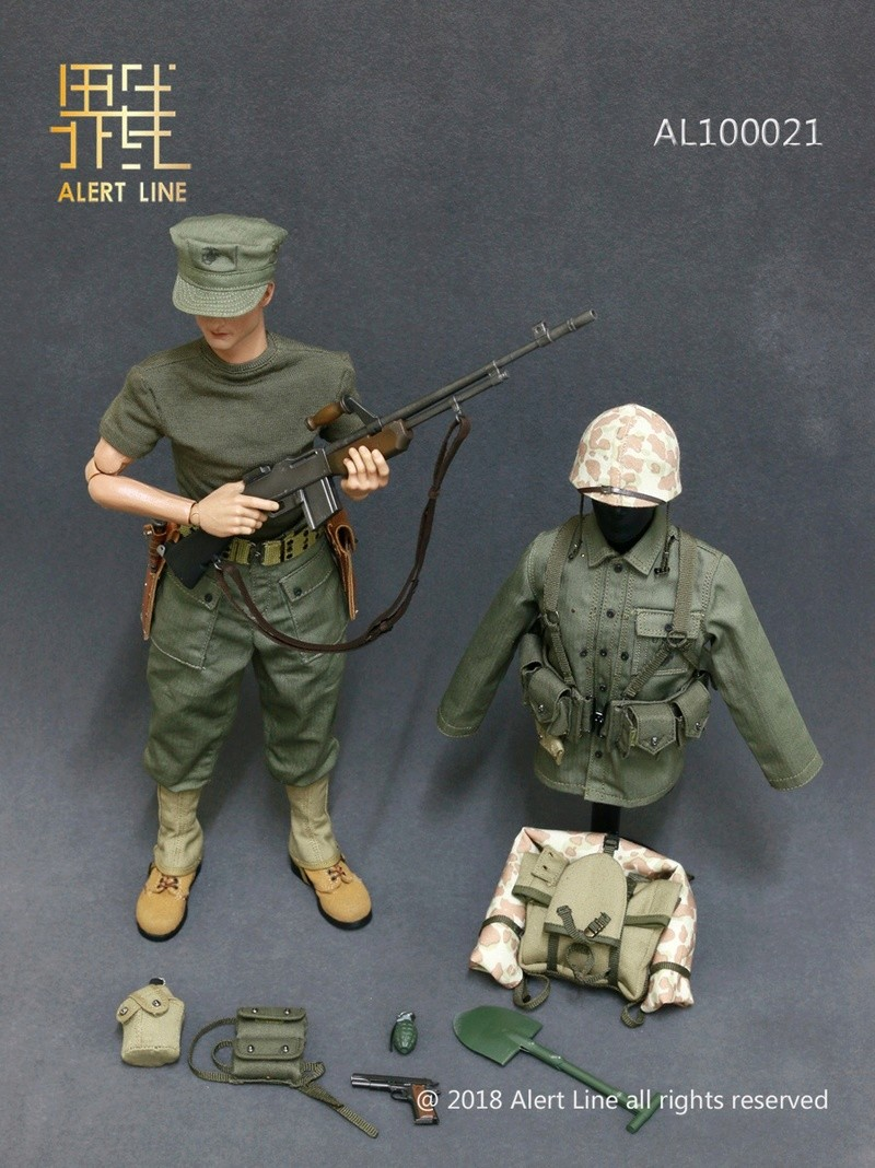 modern - NEW PRODUCT: Alert Line : 1/6 WWII US Marine Corps Browning Automatic Rifle (BAR) Gunner Set 1910
