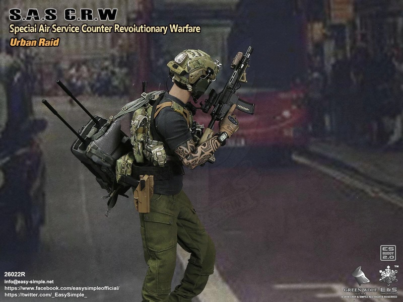NEW PRODUCT: Easy&Simple 26022R 1/6 Scale S.A.S Counter Revolutionary Warfare Urban Raid 2113