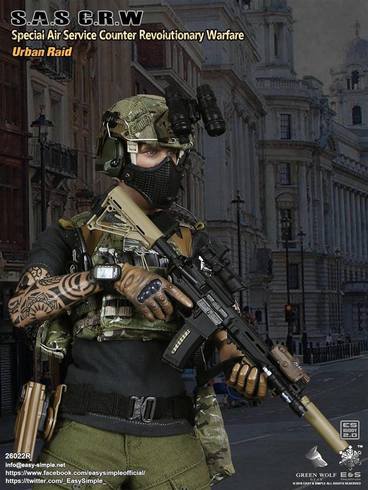 NEW PRODUCT: Easy&Simple 26022R 1/6 Scale S.A.S Counter Revolutionary Warfare Urban Raid 2213