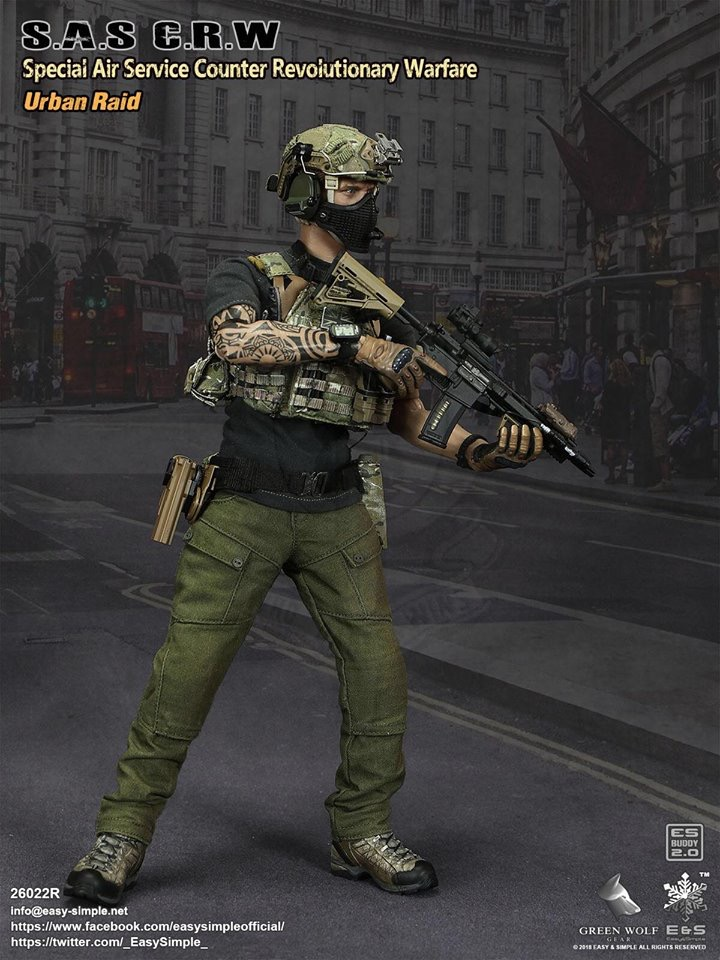 NEW PRODUCT: Easy&Simple 26022R 1/6 Scale S.A.S Counter Revolutionary Warfare Urban Raid 229