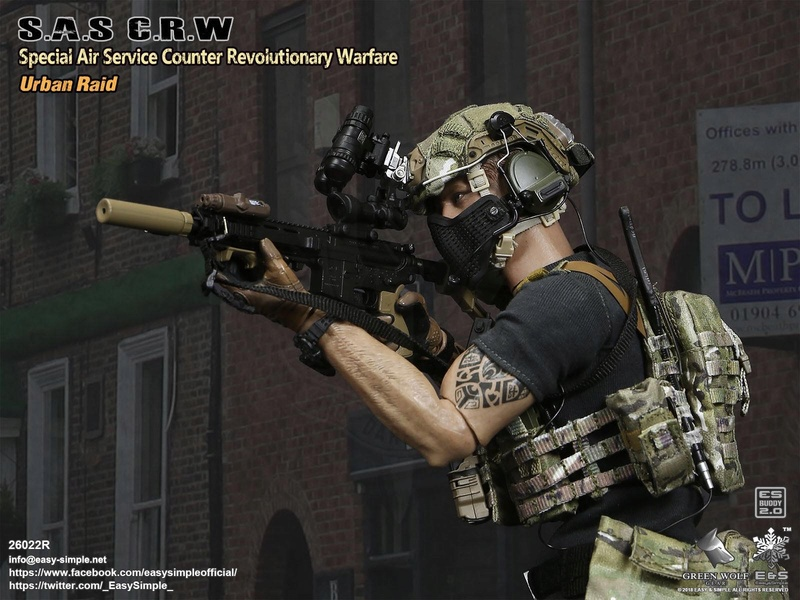 NEW PRODUCT: Easy&Simple 26022R 1/6 Scale S.A.S Counter Revolutionary Warfare Urban Raid 2312