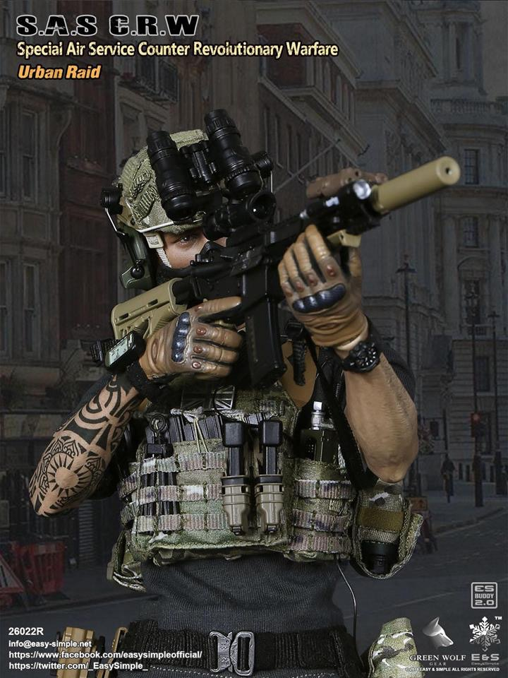 NEW PRODUCT: Easy&Simple 26022R 1/6 Scale S.A.S Counter Revolutionary Warfare Urban Raid 2412