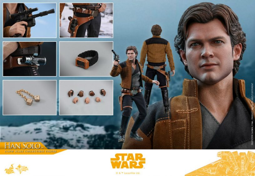 NEW PRODUCT: HOT TOYS: SOLO: A STAR WARS STORY HAN SOLO (TWO VERSIONS) 1/6TH SCALE COLLECTIBLE FIGURE 242