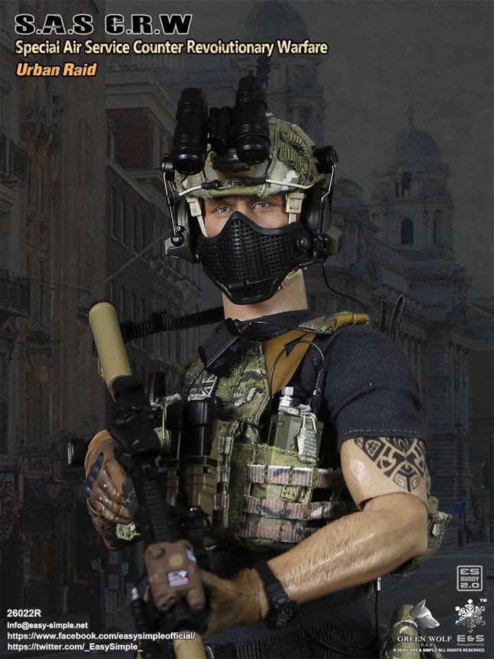 NEW PRODUCT: Easy&Simple 26022R 1/6 Scale S.A.S Counter Revolutionary Warfare Urban Raid 2511