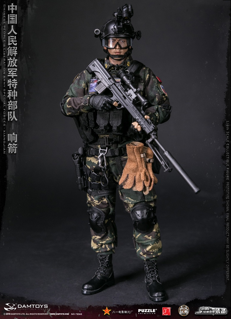 "Army - NEW PRODUCT: DAMTOYS New Products: 1/6 Special Forces of the People's Liberation Army of China - ""Singing Arrows"" Moving Figures (78048#) 257"