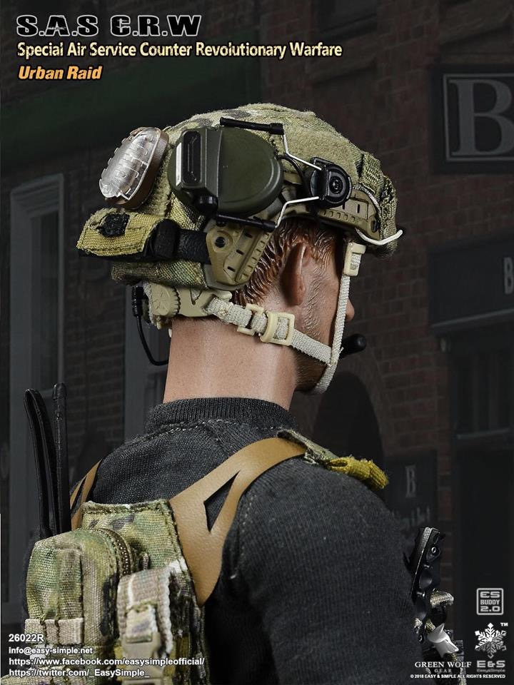 NEW PRODUCT: Easy&Simple 26022R 1/6 Scale S.A.S Counter Revolutionary Warfare Urban Raid 2911