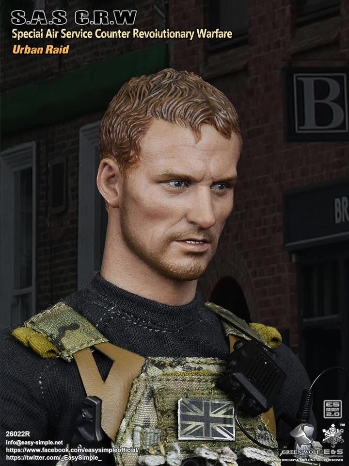 NEW PRODUCT: Easy&Simple 26022R 1/6 Scale S.A.S Counter Revolutionary Warfare Urban Raid 3111