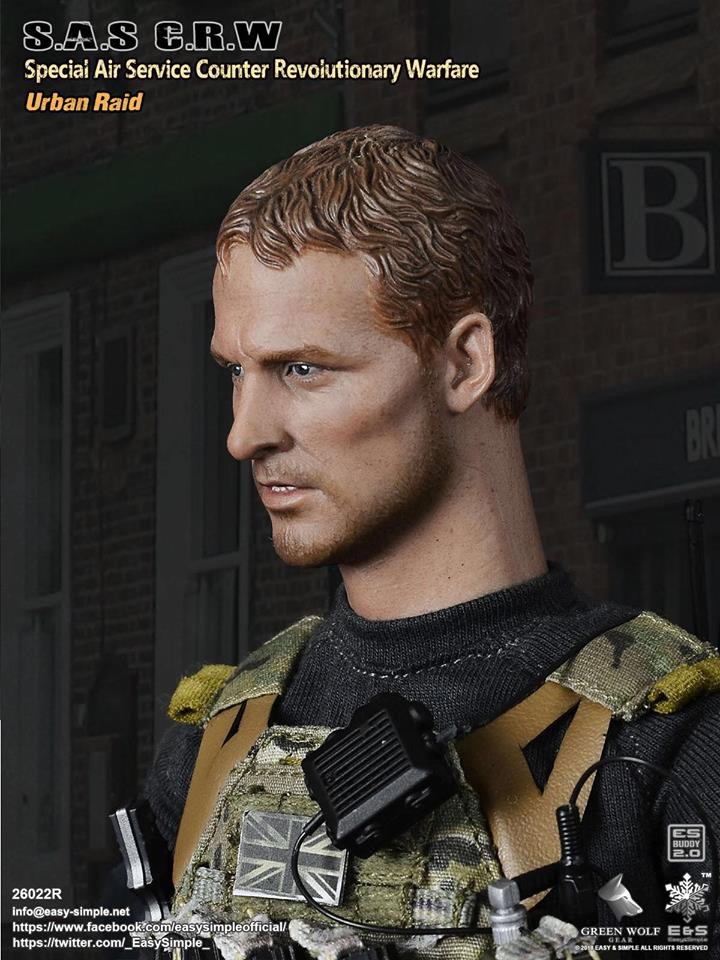 NEW PRODUCT: Easy&Simple 26022R 1/6 Scale S.A.S Counter Revolutionary Warfare Urban Raid 3210