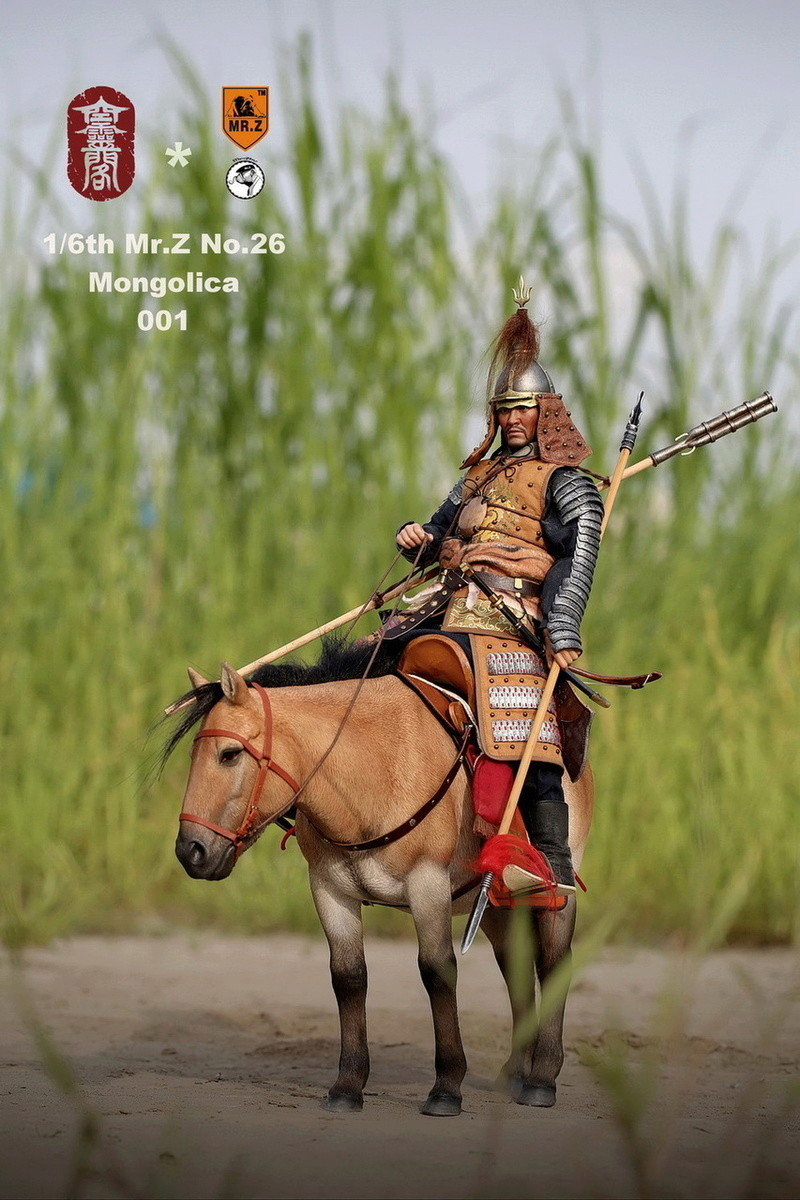 NEW PRODUCT: KONG LING GE X MR. Z - MING DYNASTY SERIES - LIAODONG MONGOL CAVALIER HORSE 1/6 SCALE MODEL (4 COLOR) 3412
