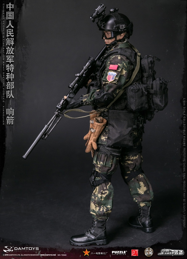 "Army - NEW PRODUCT: DAMTOYS New Products: 1/6 Special Forces of the People's Liberation Army of China - ""Singing Arrows"" Moving Figures (78048#) 353"