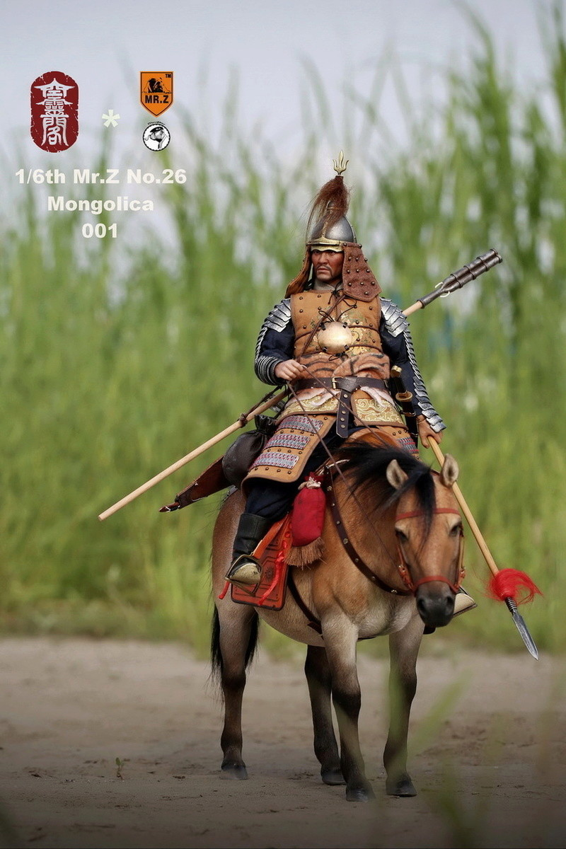 NEW PRODUCT: KONG LING GE X MR. Z - MING DYNASTY SERIES - LIAODONG MONGOL CAVALIER HORSE 1/6 SCALE MODEL (4 COLOR) 3612