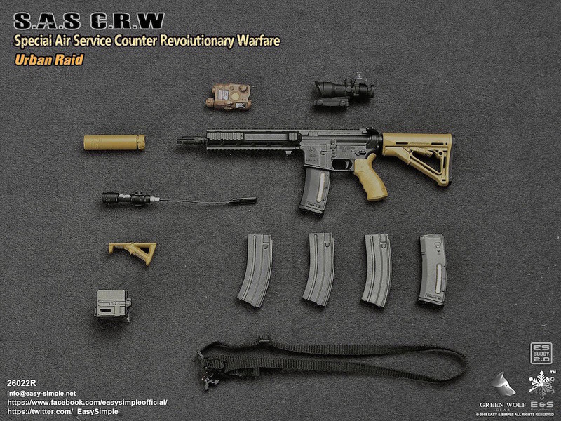 NEW PRODUCT: Easy&Simple 26022R 1/6 Scale S.A.S Counter Revolutionary Warfare Urban Raid 3810