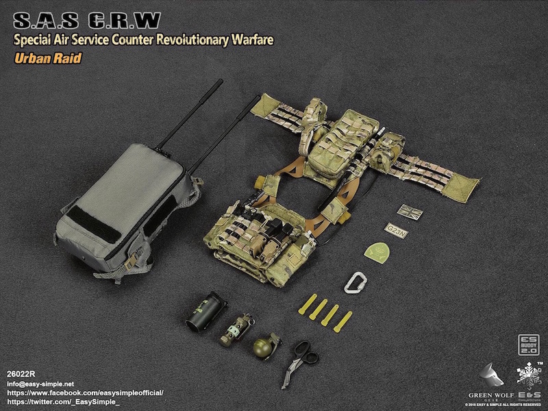 NEW PRODUCT: Easy&Simple 26022R 1/6 Scale S.A.S Counter Revolutionary Warfare Urban Raid 3910