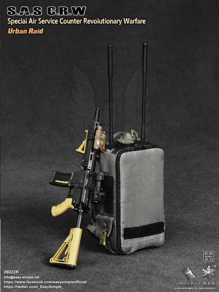 NEW PRODUCT: Easy&Simple 26022R 1/6 Scale S.A.S Counter Revolutionary Warfare Urban Raid 4010