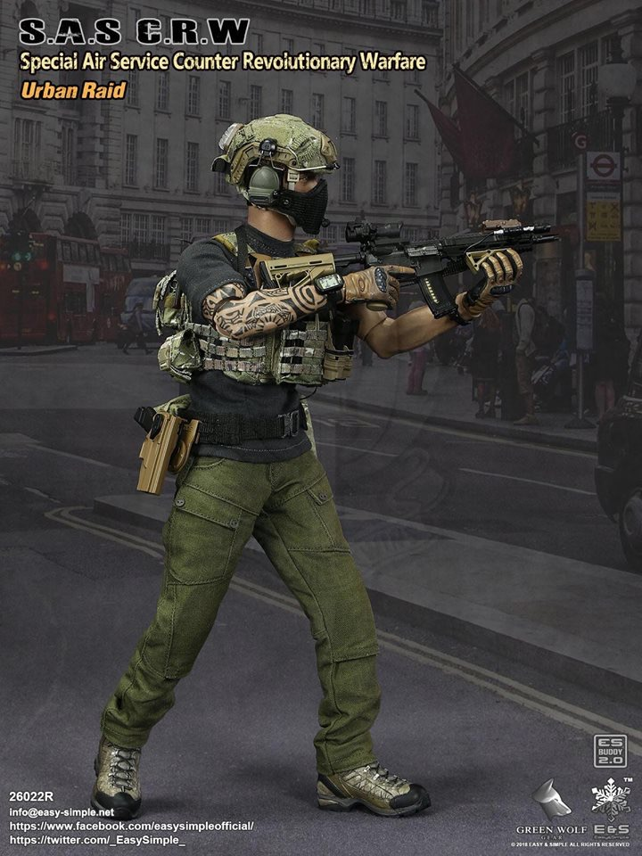 NEW PRODUCT: Easy&Simple 26022R 1/6 Scale S.A.S Counter Revolutionary Warfare Urban Raid 429