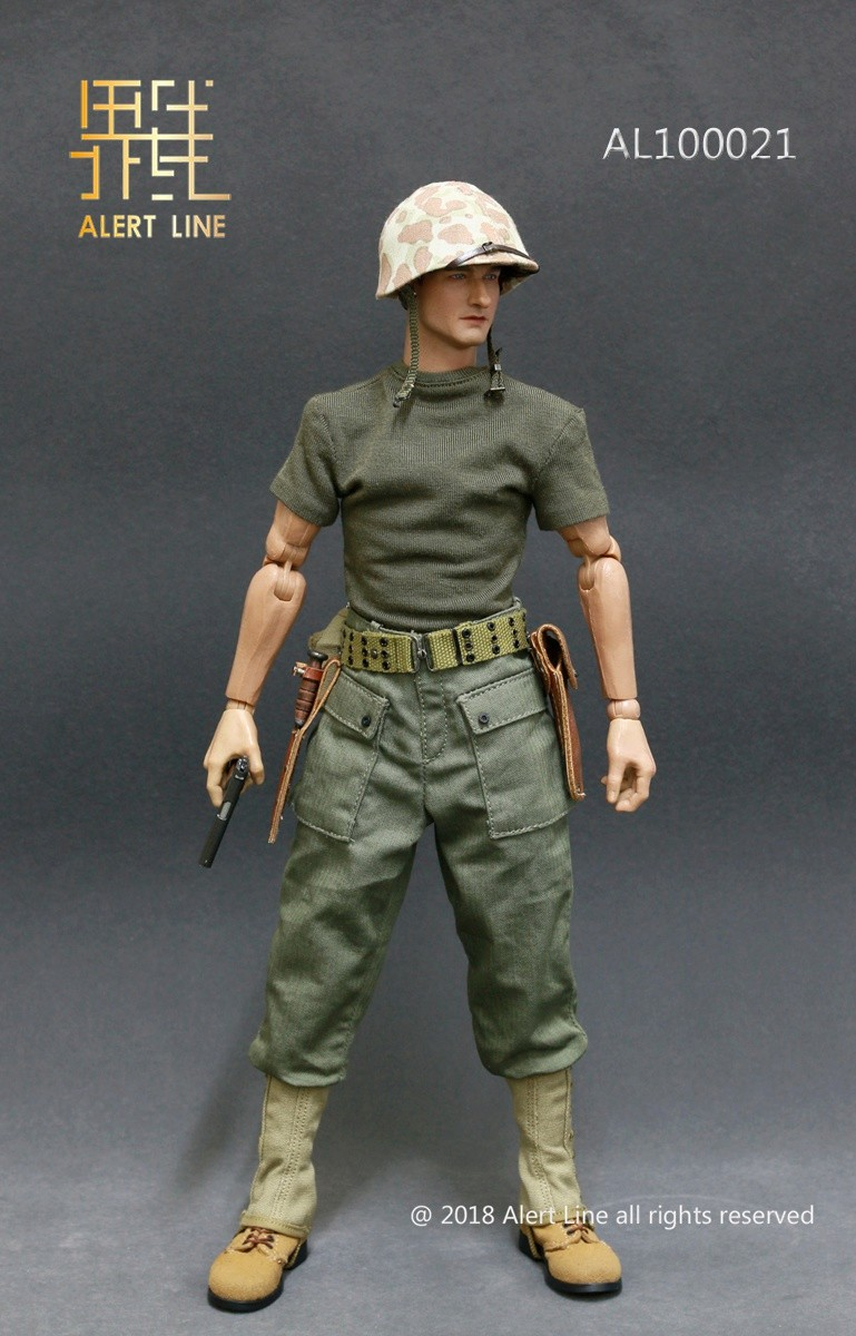 modern - NEW PRODUCT: Alert Line : 1/6 WWII US Marine Corps Browning Automatic Rifle (BAR) Gunner Set 517