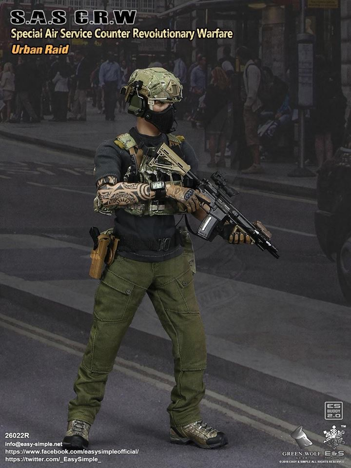 NEW PRODUCT: Easy&Simple 26022R 1/6 Scale S.A.S Counter Revolutionary Warfare Urban Raid 528