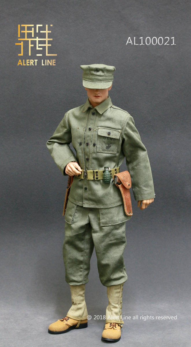 modern - NEW PRODUCT: Alert Line : 1/6 WWII US Marine Corps Browning Automatic Rifle (BAR) Gunner Set 814