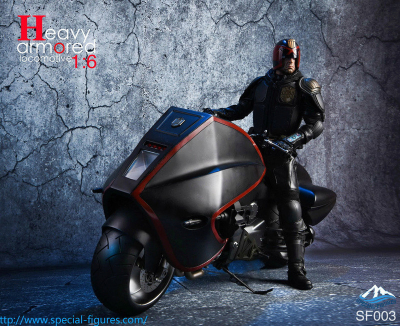 NEW PRODUCT: Special Figures 1/6 Heavy Armored Locomotive (Dredd 2012 Lawmaster) 826