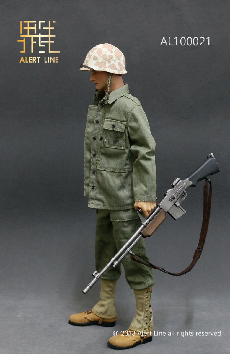modern - NEW PRODUCT: Alert Line : 1/6 WWII US Marine Corps Browning Automatic Rifle (BAR) Gunner Set 914