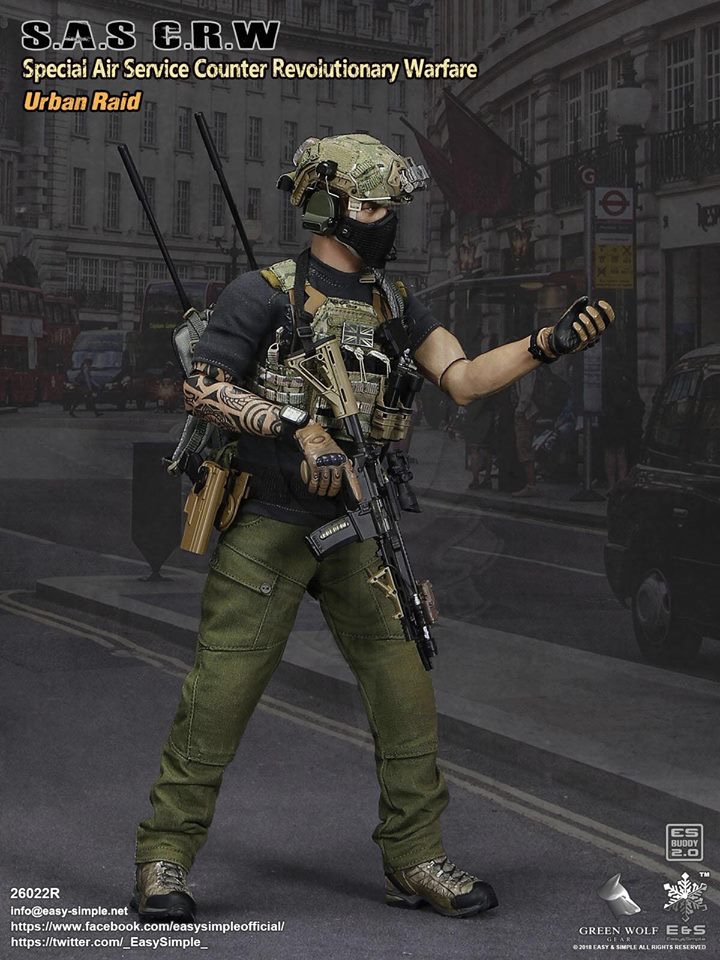 NEW PRODUCT: Easy&Simple 26022R 1/6 Scale S.A.S Counter Revolutionary Warfare Urban Raid 925