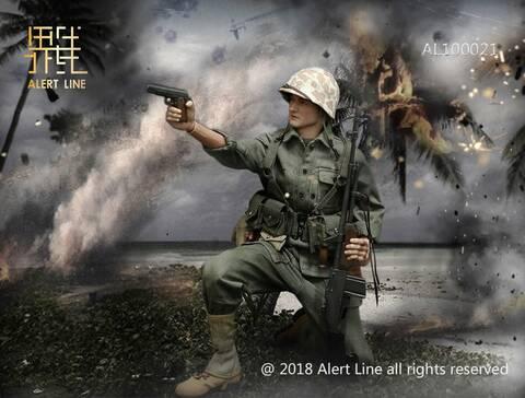 Alert Line AL100021 1//6 WWII USMC Browning Automatic Rifle BAR Gunner Set New
