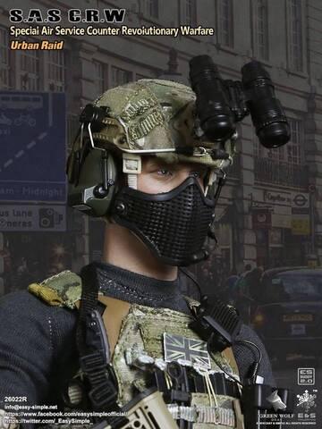 Vest /& Pouch Set for ES 26022R Green Wolf UK S.A.S C.R.W Urban Raid 1//6 Scale