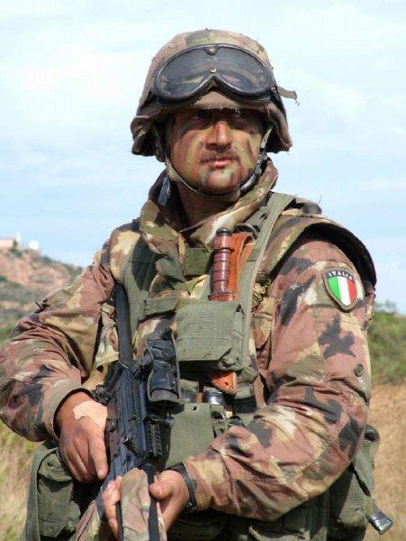 Italian San Marco Desert Camo Flak Vest Italie10