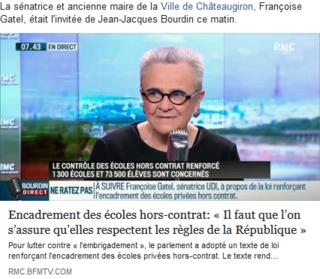 Françoise Gatel , sénatrice et ex maire de Chateaugiron était invité de JJ Bourdin le 30 mars Fg11