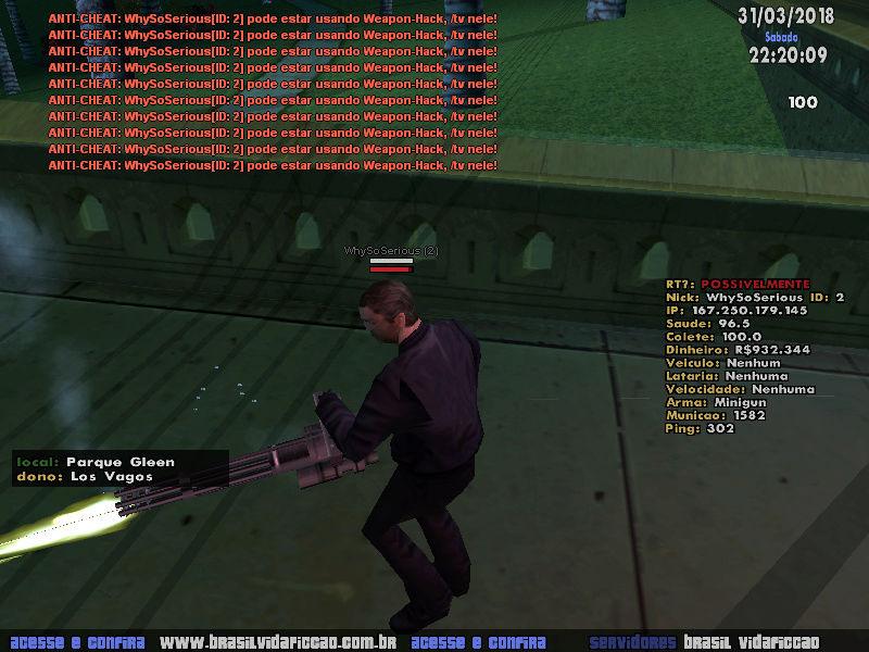 hacker d minigun foi banido ja Sa-mp-14
