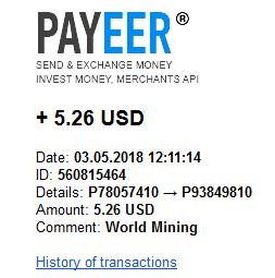 [Risco - Provado] World Mining - Mineradora de criptomoedas certificada em Inglaterra que aluga contratos para mineração Pagame11