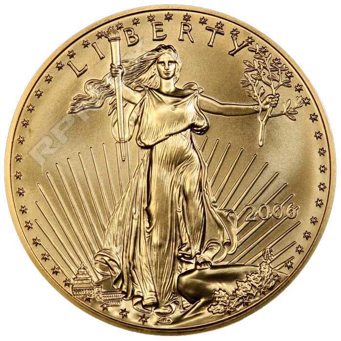 5 dolares, 1/10 onzas de oro de 22k. Estados Unidos de América. 2006. 39111