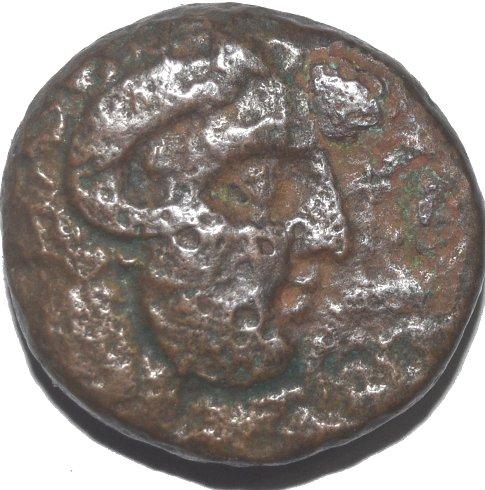 AE 22. Cirenaica. Cirene. Koinon  de Cirene, ca. 250-246 a.C. Planta de Silphium 41711