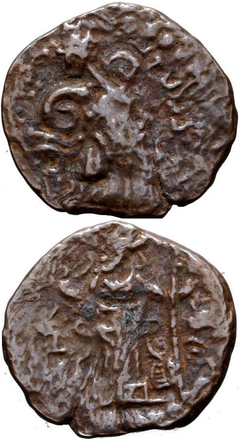 Unit (dracma) de Peroz III Kushanshah 41810