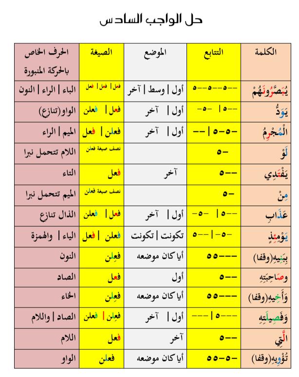 الواجب السادس/ الدورة الاولى /  رجال  U__oa10